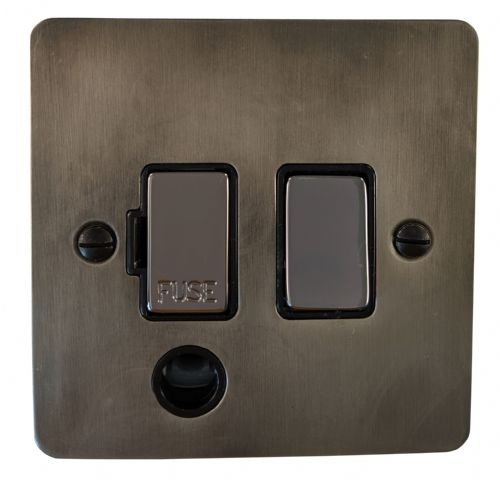 G&H FSL356 Flat Plate Slate 1 Gang Fused Spur 13A Switched & Flex Outlet